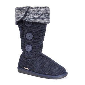 Muk Luk's Cuffed Sweater Boots